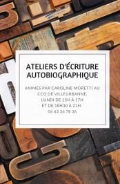 Affiche ateliers d'écriture CCO Caroline Moretti