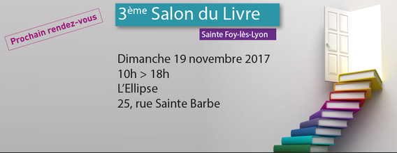 Affiche Salon du livre Ste Foy les lyon 2018